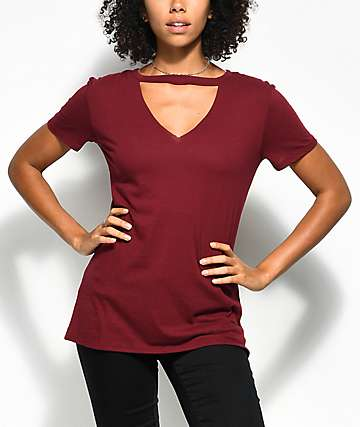 Empyre Topaz camiseta roja con gargantilla