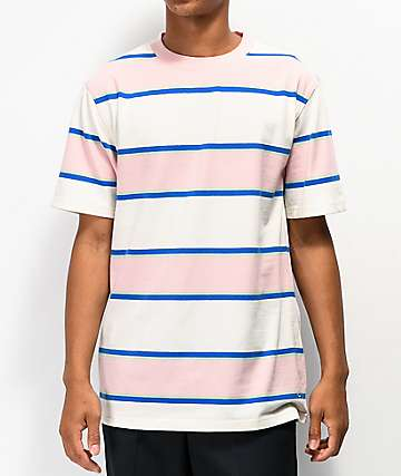 Empyre Totally Stripe White, Pink & Blue T-Shirt
