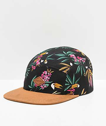 Empyre Toucan Black Five Panel Strapback Hat bff94482354b