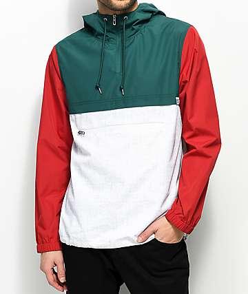 Empyre Transparent White, Red & Green Anorak Jacket