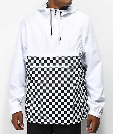 Empyre Transparent White Checkered Anorak Jacket