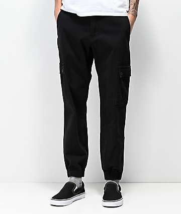 Empyre Traveler Black Cargo Jogger Pants