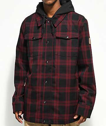Empyre Traversed Black & Red Plaid 10K Snowboard Jacket
