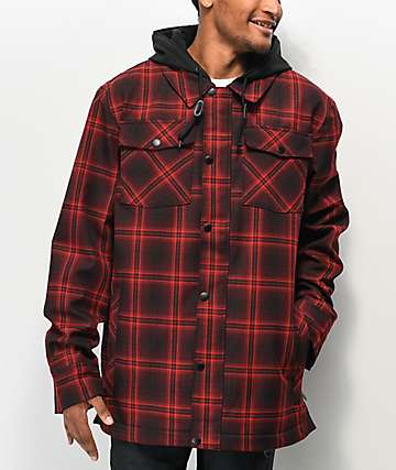 Empyre Traversed Red Plaid 10K Snowboard Jacket