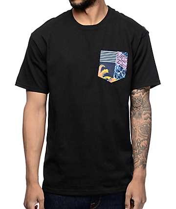Empyre Tropicool camiseta negra con bolsillo