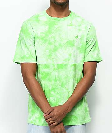 Empyre Two Faced camiseta verde con efecto tie dye