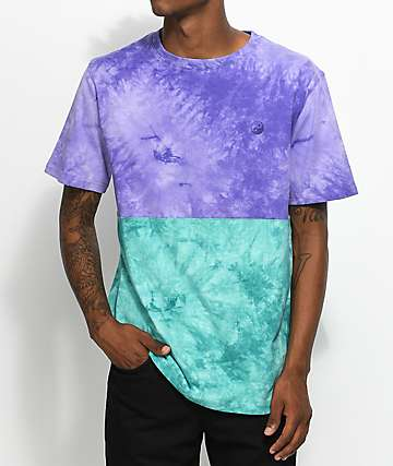 Empyre Twofaced Tie Dye Purple & Turquoise T-Shirt