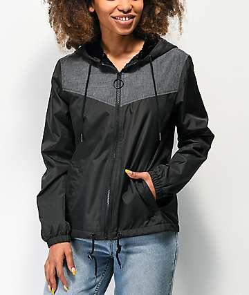 Empyre Una Black & Grey Windbreaker Jacket