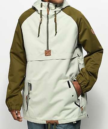 Empyre Upshoot 10k chaqueta anorak de snowboard en verde oliva y salvia