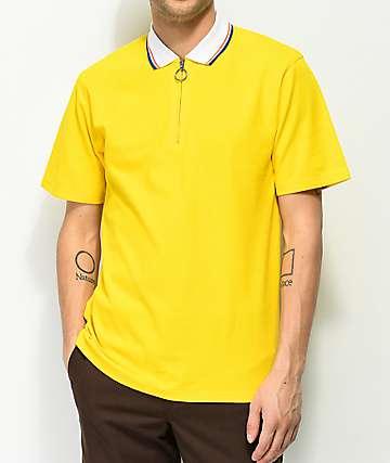 Empyre Venter Yellow Zip Polo