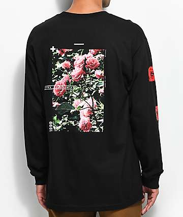Empyre Vertigo Rose Black Long Sleeve T-Shirt
