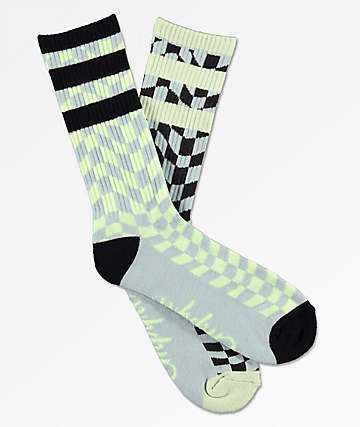 Empyre Wavey Checker Crew Socks