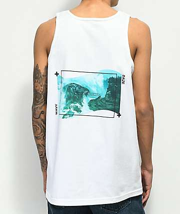Empyre Wavy Daze White Tank Top