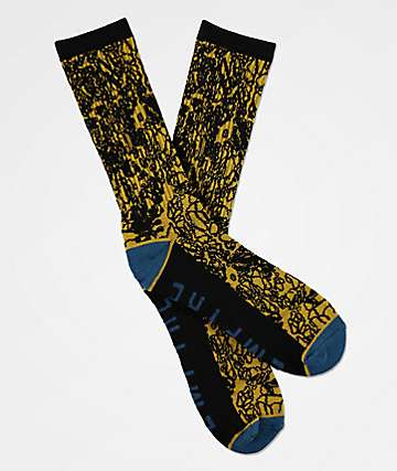 Empyre Wrap Black Crew Socks