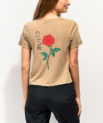 Empyre Yohanna Rose Kanji Khaki T-Shirt