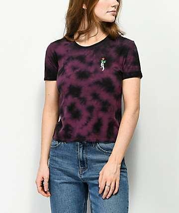 Empyre Yohanna Rose camiseta morada con efecto tie dye