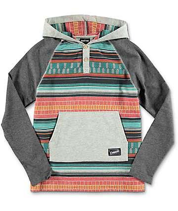 Empyre Youth Burner Grey & Tribal Hooded Shirt