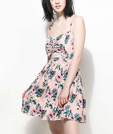 Empyre Yumiko vestido floral en rosa