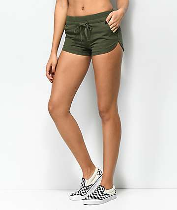 Empyre Zayden Olive Twill Dolphin Shorts