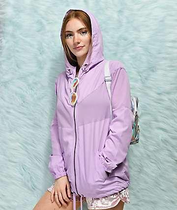Empyre Zola chaqueta cortavientos de malla en color lavanda