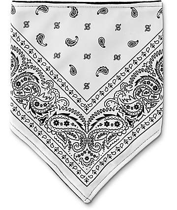 Empyre bandana de cachemir blanca y negra