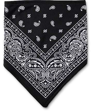 Empyre bandana de cachemir negra y blanca