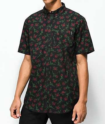 Empyre camisa negra de rosas