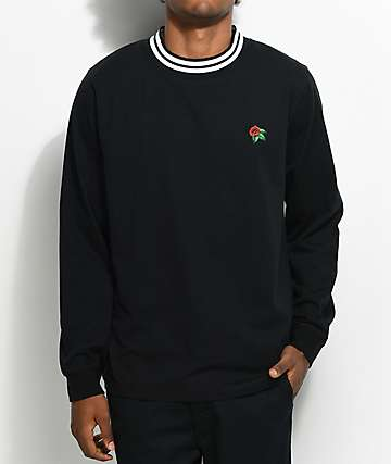 Empyre camiseta ringer con cuello redondo en negro