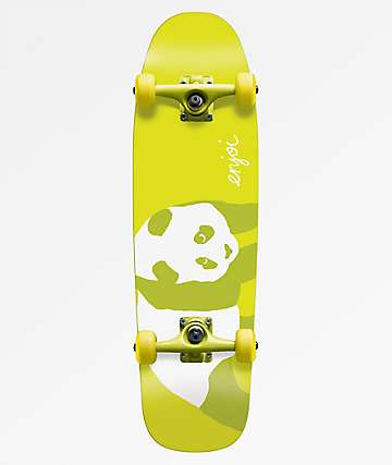 """Enjoi 8.0"""" 80s Yellow Lime Cruiser Complete"""