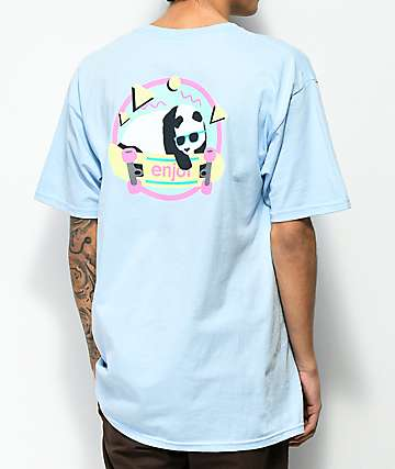 Enjoi 80s Panda Light Blue T-Shirt