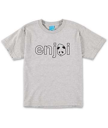 Enjoi Boys Headvetica Heather Grey T-Shirt