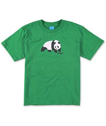 Enjoi Boys Original Panda Green T-Shirt