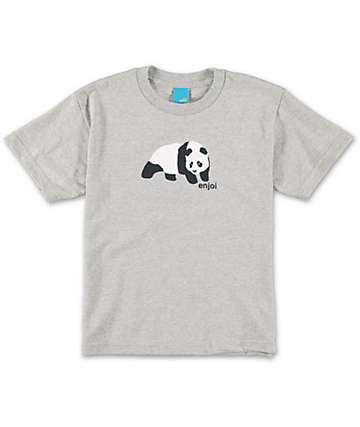 Enjoi Boys Original Panda Grey T-Shirt