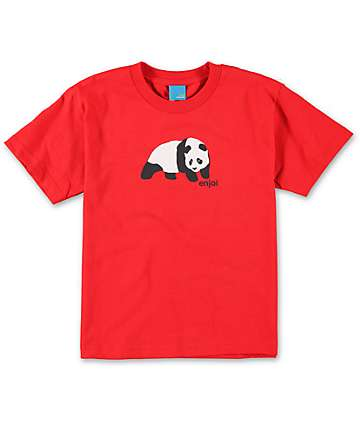 Enjoi Boys Original Panda Red T-Shirt
