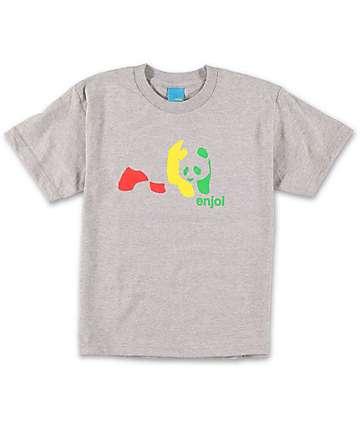 Enjoi Boys Rasta Panda Athletic Grey T-Shirt