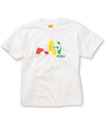 Enjoi Boys Rasta Panda White T-Shirt
