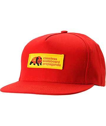 Enjoi Dictator-Tots Red Snapback Hat