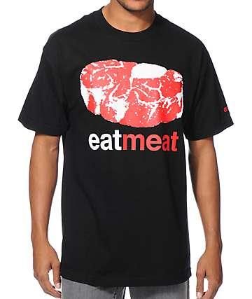 Enjoi Eat Meat Black T-Shirt