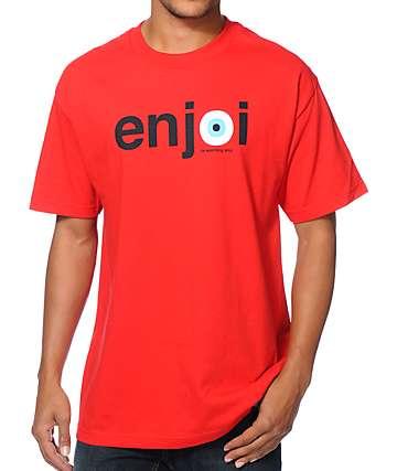 Enjoi Eyeball Red T-Shirt