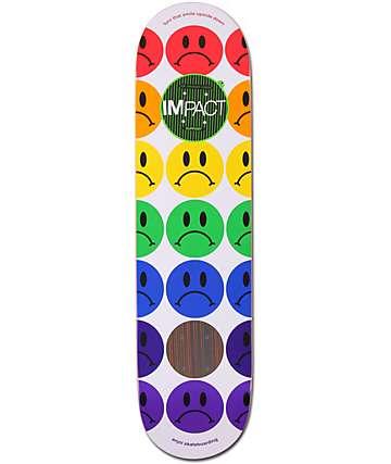 "Enjoi Frowny Faces 7.75""  Impact Skateboard Deck"