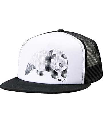 Enjoi Halftone Black Trucker Hat