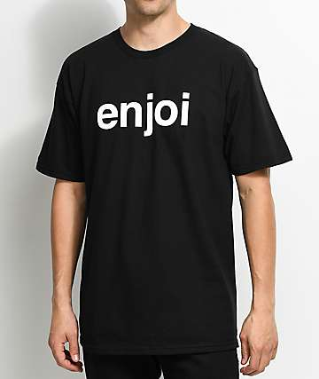 Enjoi Helvetica Logo Tonal Black T-Shirt