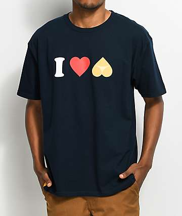 Enjoi I Heart Hearts Navy T-Shirt