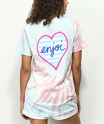 Enjoi Imprisoned Heart Pastel Tie Dye T-Shirt