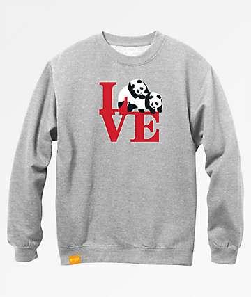 Enjoi Love Grey Crew Neck Sweatshirt