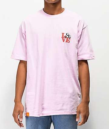 Enjoi Love camiseta rosa