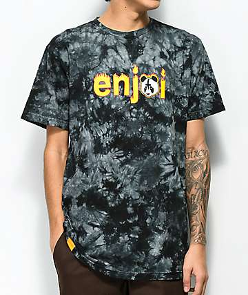 Enjoi Metal Panda Black Tie Dye T-Shirt