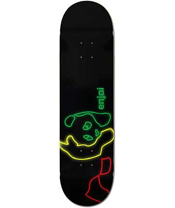 "Enjoi Neon Rasta Panda 8.25""  Skateboard Deck"