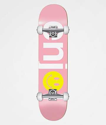 """Enjoi No Brainer Smile Pink 7.5"""" Skateboard Complete"""