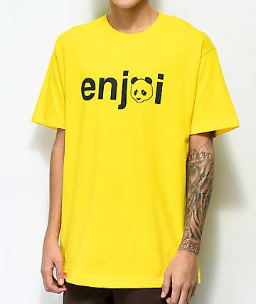 Enjoi No Brainer camiseta amarilla